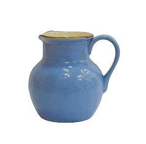 Jarra cerâmica azul
