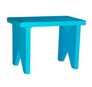 Banqueta retangular azul