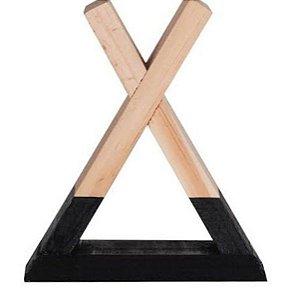 Nicho madeira com base preta M