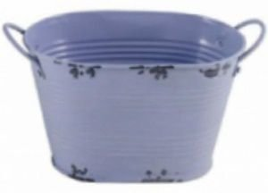 Cachepot rustico oval lilas G