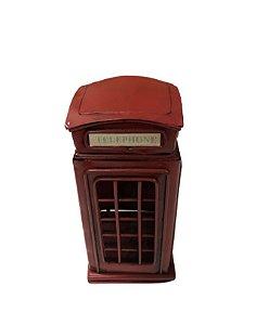 Cabine Londres de ferro vermelha