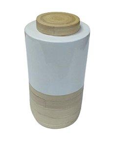 Pote bambú e branco