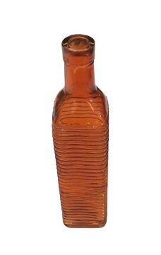 Garrafa Listrada laranja G