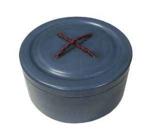 Caixa ferro botão azul G