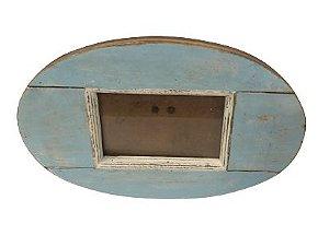 Porta retrato oval azul
