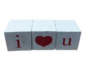 Cubo letras I love you