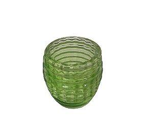 Porta vela vidro frizzer verde