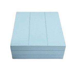 Caixa quadrada azul claro P