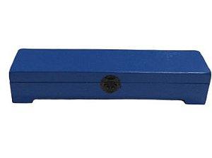 Caixa longa baú azul M