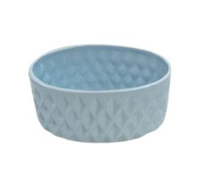 Vaso oval losango azul G