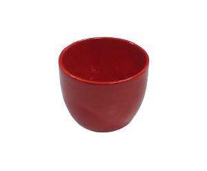 Vaso cachepot vermelho P