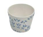 vaso folhas azul