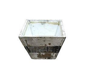 Vaso cachepot madeira rustico P