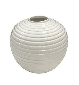 Vaso bola frizado branco