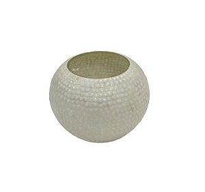 Vaso bowl mosaico branco