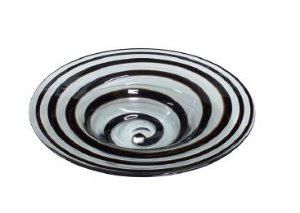 Vaso centro de mesa friso preto