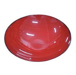 Fruteira redonda melamina vermelha G