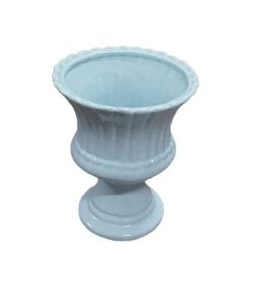 Vaso anfora petala azul claro M