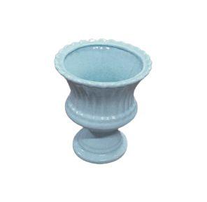 Vaso anfora petala azul claro P