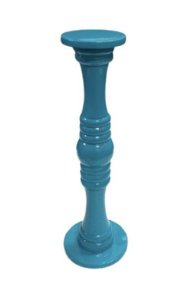 Castiçal laqueado azul turquesa G