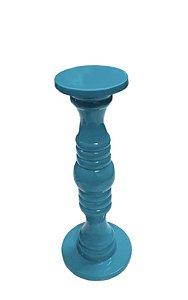 Castiçal laqueado azul turquesa P