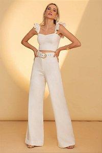 Pantalona De Linho Antônia - OFF WHITE