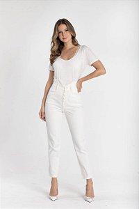 Calça Jeans Cós Duplo - OFF WHITE