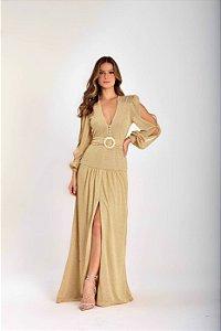 Vestido Athena Lurex - OURO