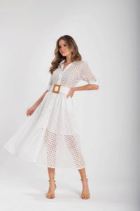 Vestido Caroline De Laise - OFF WHITE