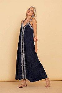 Vestido Midi Luiza - AZUL MARINHO