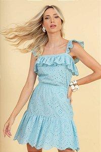 Vestido de Laise Clara - AZUL CLARO