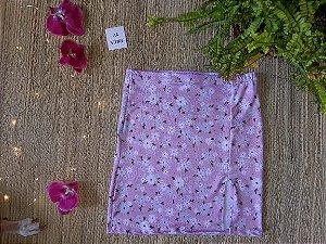 Saia rosa com flores