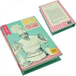 Caixa Decorativa em Madeira Livro Donatello
