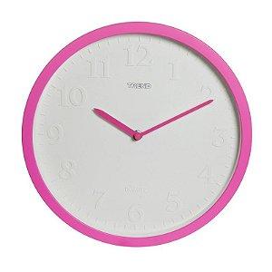 Relógio de Parede Moderno Neon Rosa