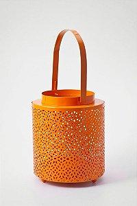 Lanterna Arabesque Laranja Tangerine 12,5 x 15 cm
