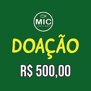 Doação  500,00