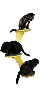 Árvore Trio de Prateleiras Para Gato