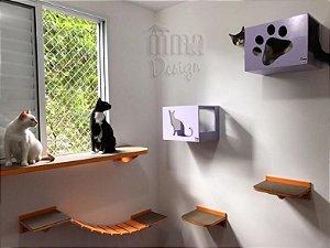 Prateleira De Observação Para Janela Para Gatos