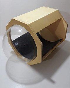 Nicho com visor cúpula de acrílico
