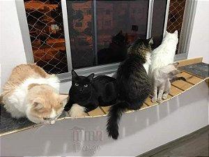Passarela Com Ponte De Corda Para Gatos