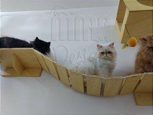 Passarela ponte de corda para gatos