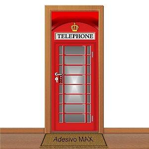 Adesivo de Porta - Cabine Telefônica Londres