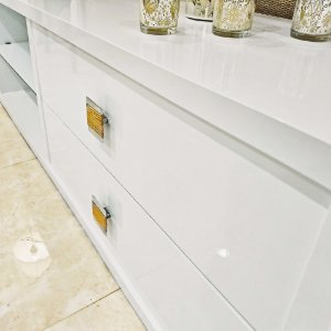 Adesivo Gold Protect Gloss Branco Laca (Largura 1,40m) - VENDA POR METRO