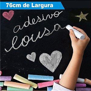Adesivo Lousa de Giz Preto PRO (Largura 76cm) - VENDA POR METRO