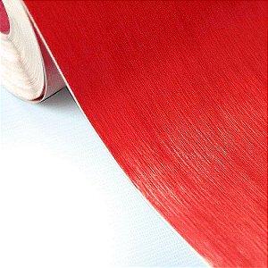 Adesivo Aço Escovado Vermelho (Largura 1metro) - VENDA POR METRO