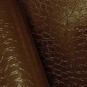 Adesivo Croco Pele de Jacaré Marron  (Largura 1,22m) - VENDA POR METRO