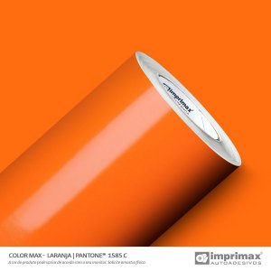 Adesivo Color MAX Laranja (Largura 1m) - VENDA POR METRO