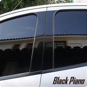 Adesivo Coluna de Carro PRETO BLACK PIANO