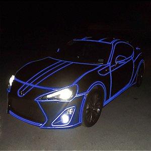 Adesivo Refletivo Azul (Largura 61cm) - VENDA POR METRO