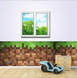 Faixa para Quarto Minecraft Tijolos (1m x 45cm)